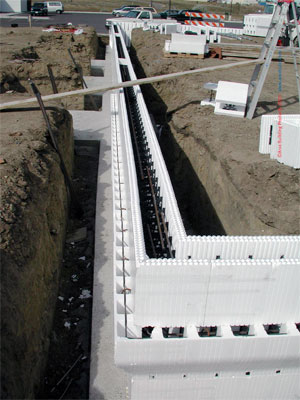 Concrete buildings commercial construction concrete for Foam concrete forms